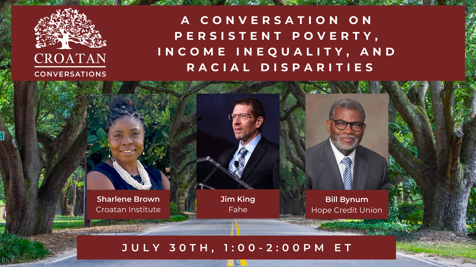 A Conversation on Persistent Poverty, Income Inequality, and Racial Disparities